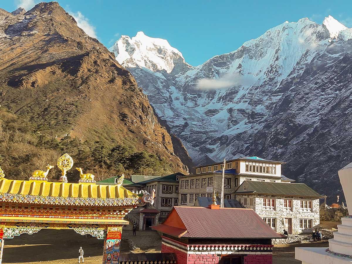 Sherpa village views on Everest Base Camp trek in Nepal
