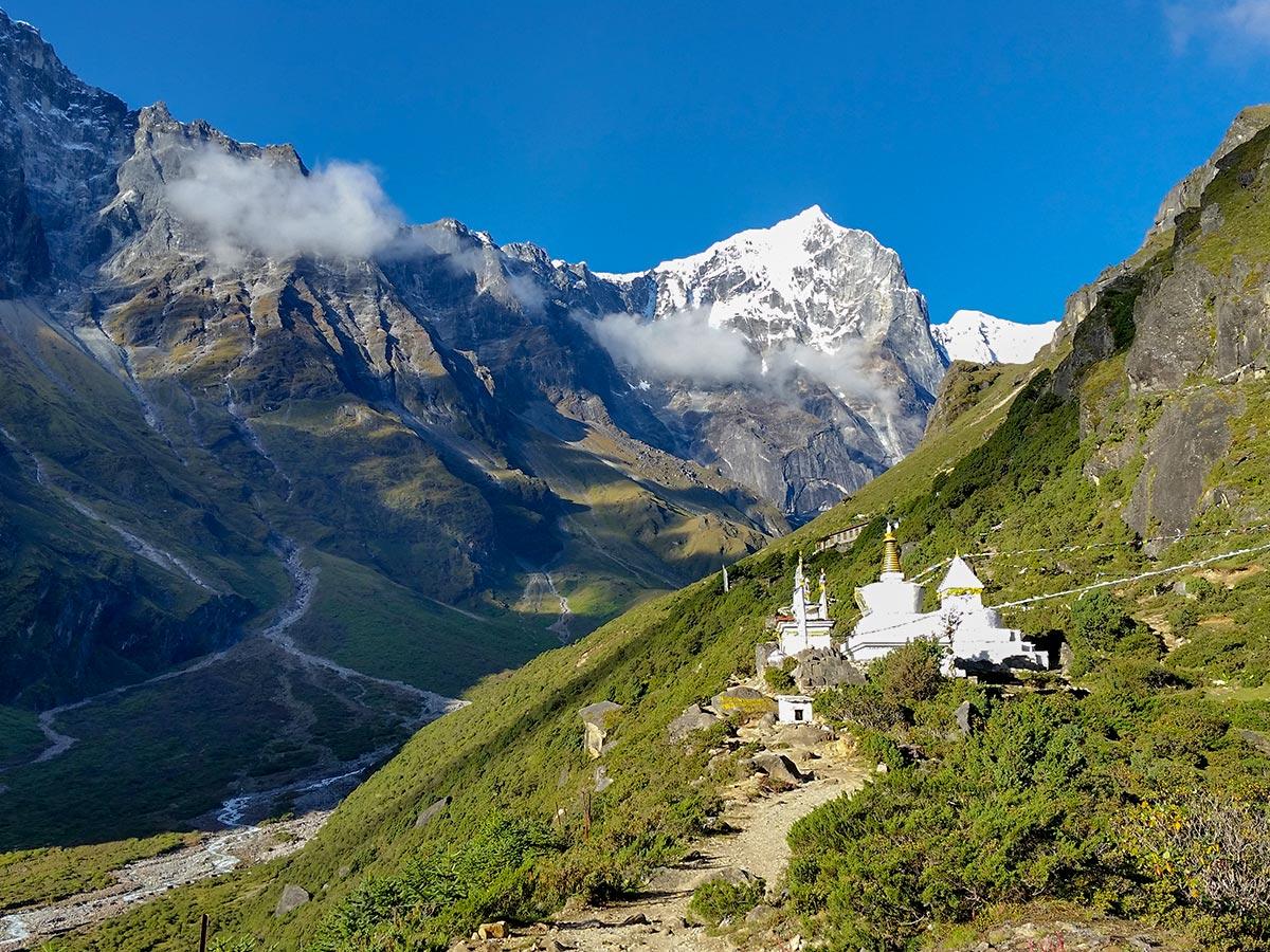Valley views on Everest Base Camp trek in Nepal