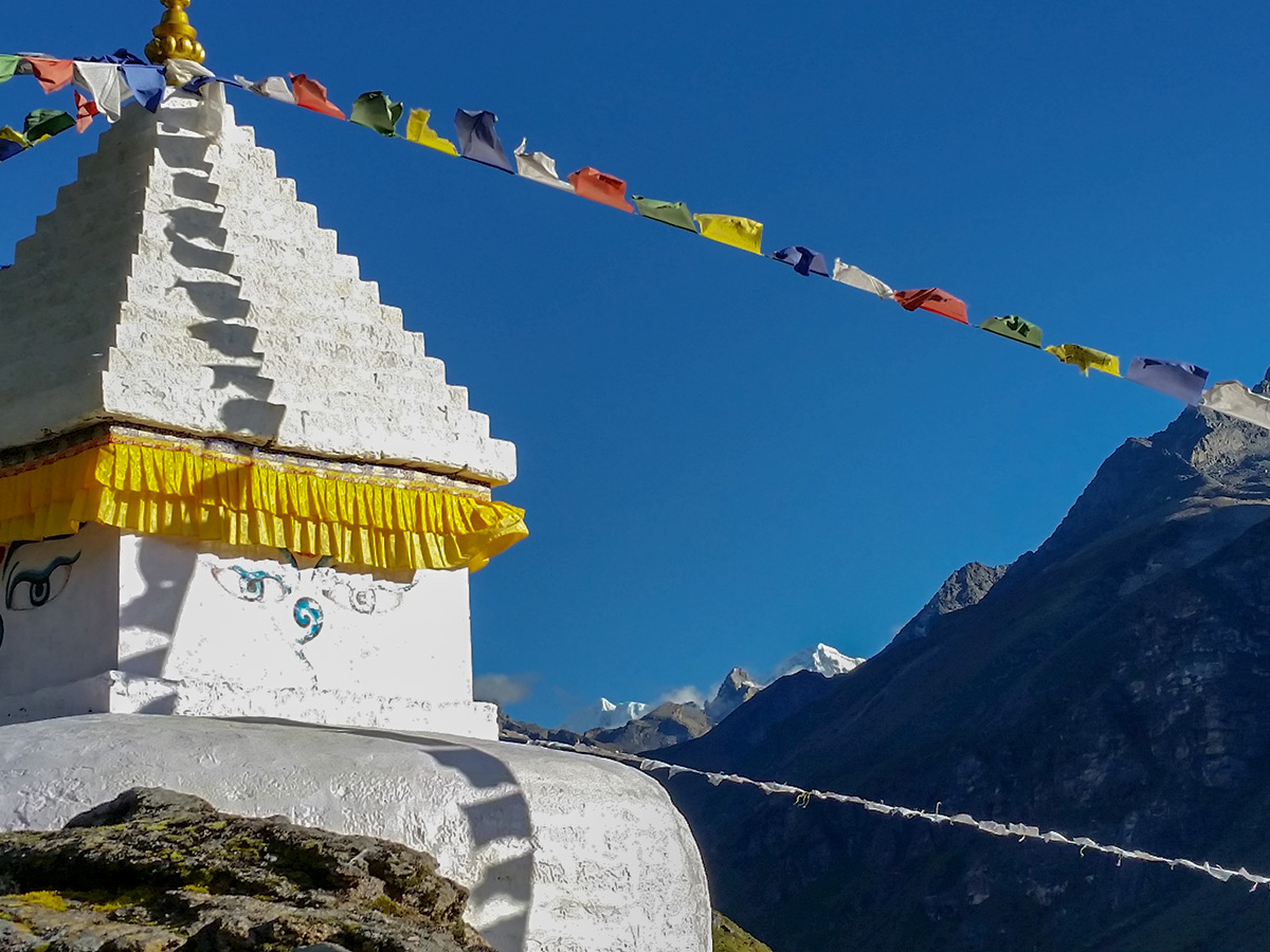 Local architecture on Everest Base Camp trek in Nepal