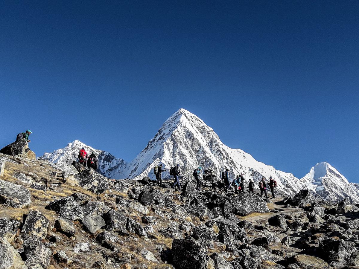 Everest on Everest Base Camp and Gokyo Lake trek in Nepal