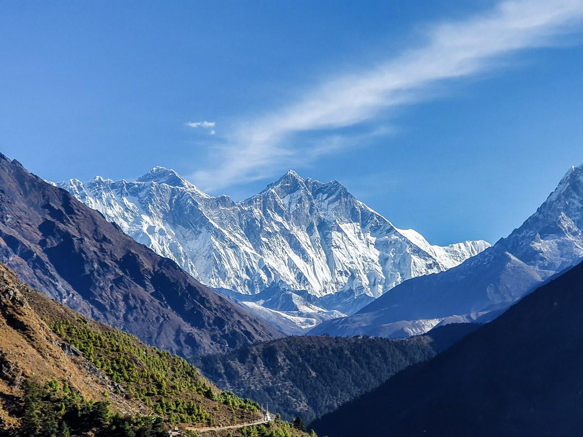 Stunning mountain views on Everest Base Camp and Gokyo Lake trek in Nepal