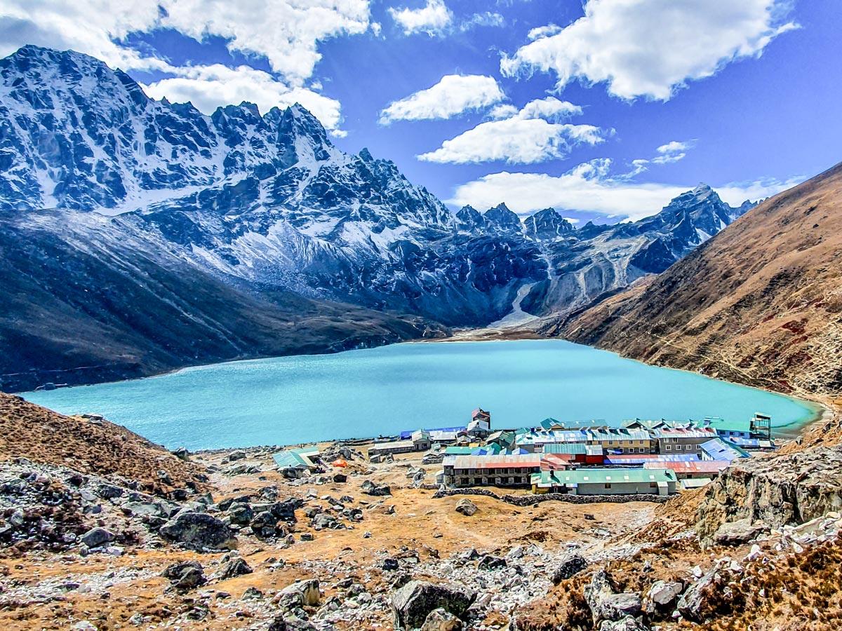 Gokyo lake on Everest Base Camp and Gokyo Lake trek in Nepal