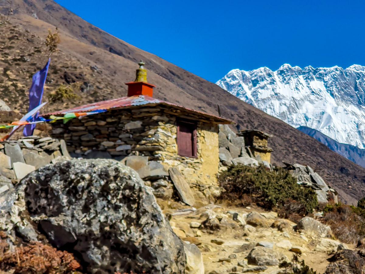 Himalaya mountains on Everest Base Camp and Gokyo Lake trek in Nepal
