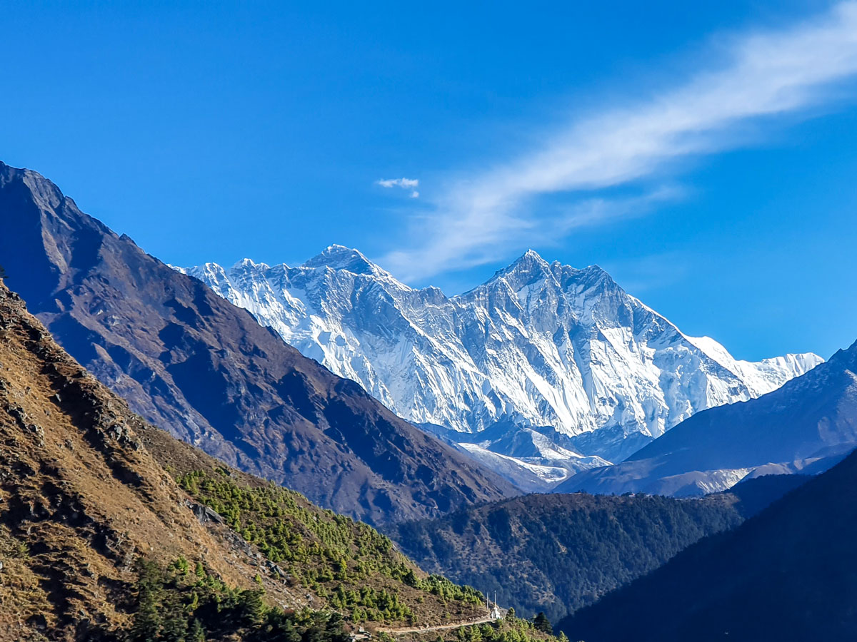 Beautiful mountains views on Everest Panorama Trek in Nepal