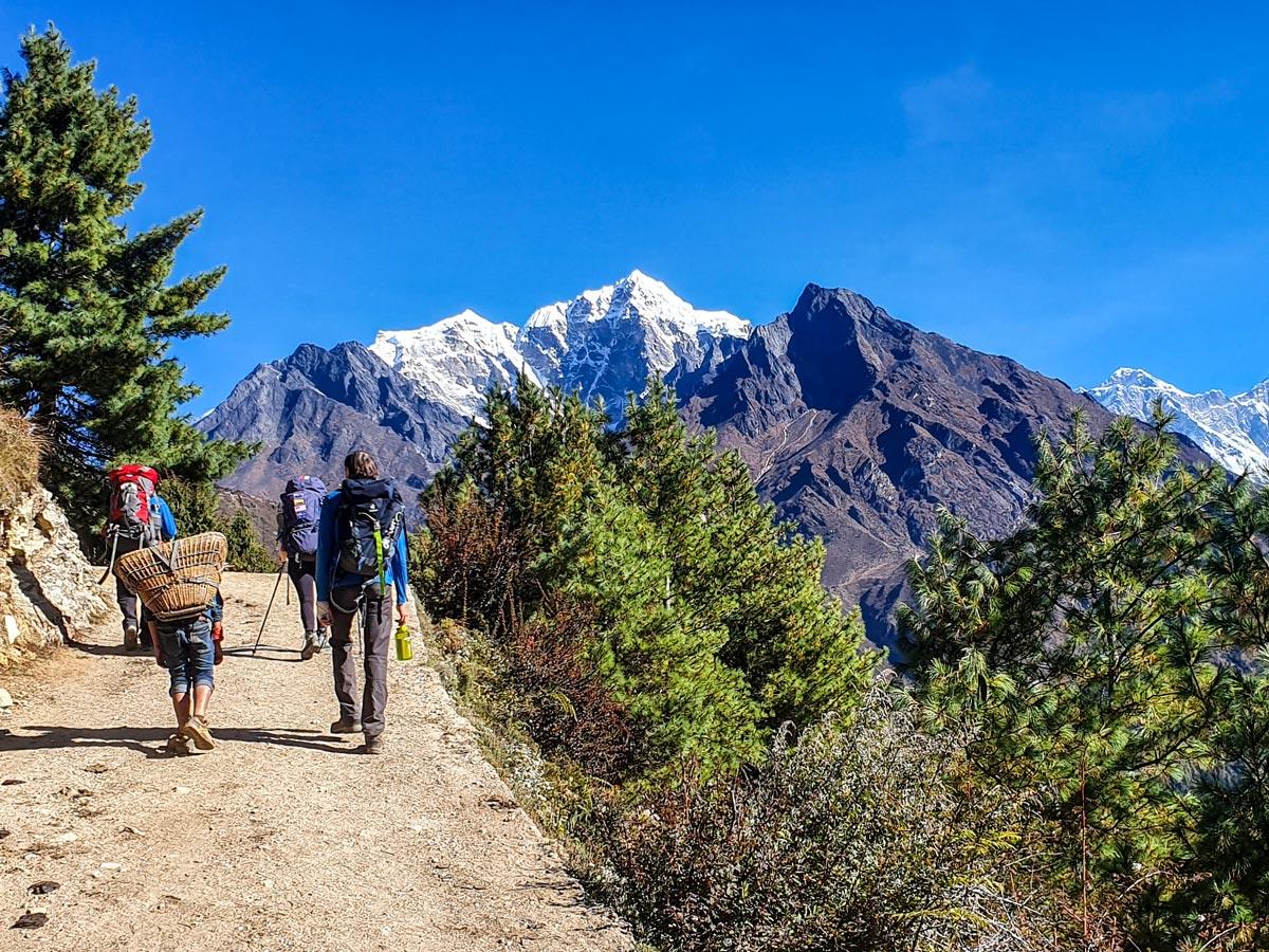 Hikers on Everest Panorama Trek in Nepal