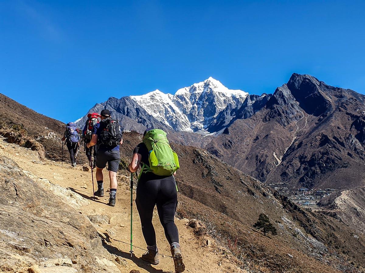 Ascending on Everest Panorama Trek in Nepal