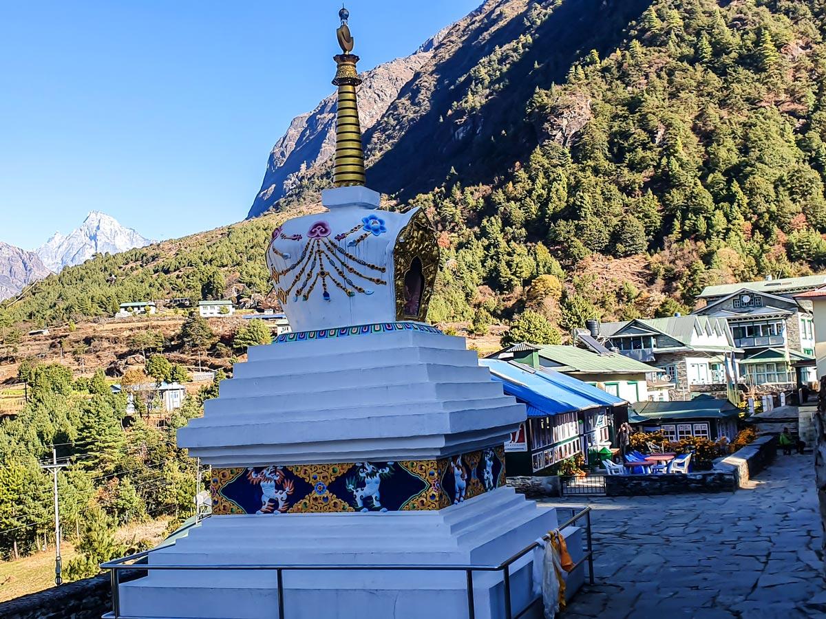 Sherpa village on Everest Panorama Trek in Nepal