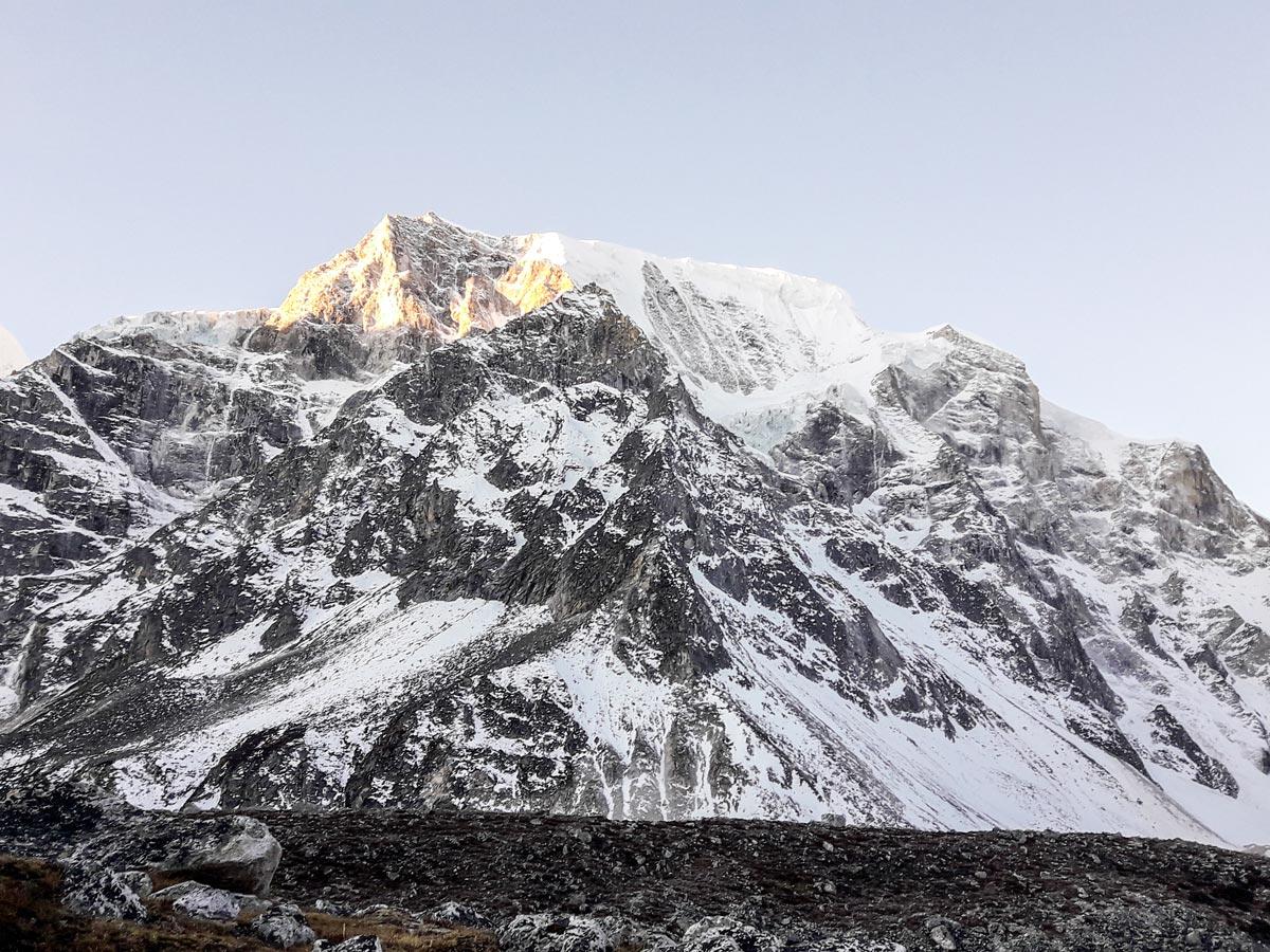 Himalayan mountain views on Manaslu Circuit trek in Nepal