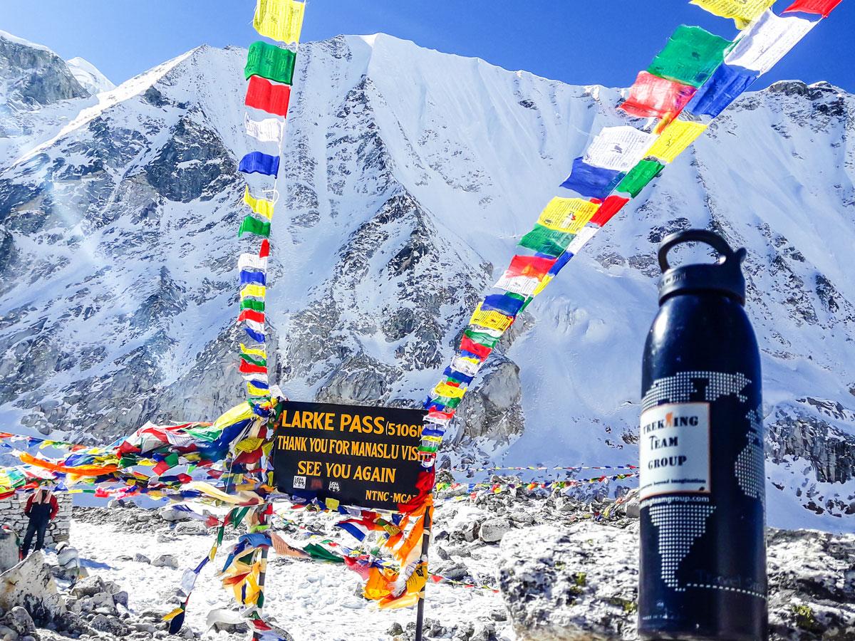 Larke Pass on Manaslu Circuit trek in Nepal