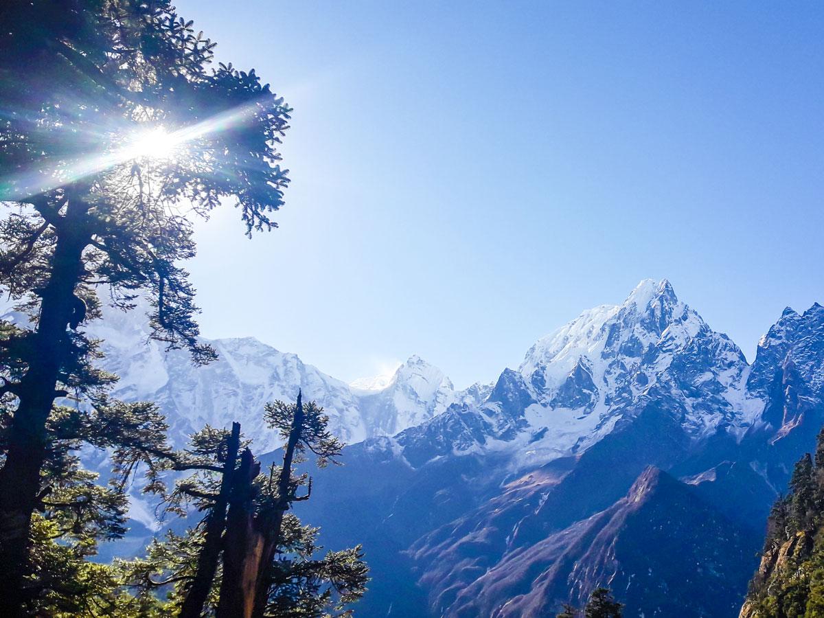 Stunning mountain views on Manaslu Circuit trek in Nepal