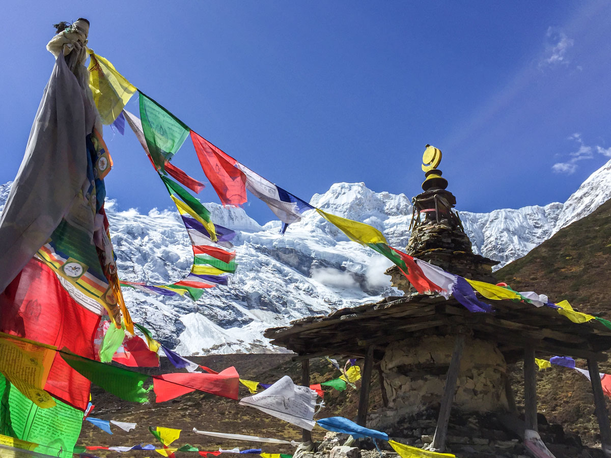 Himalayas on Manaslu Circuit trek in Nepal