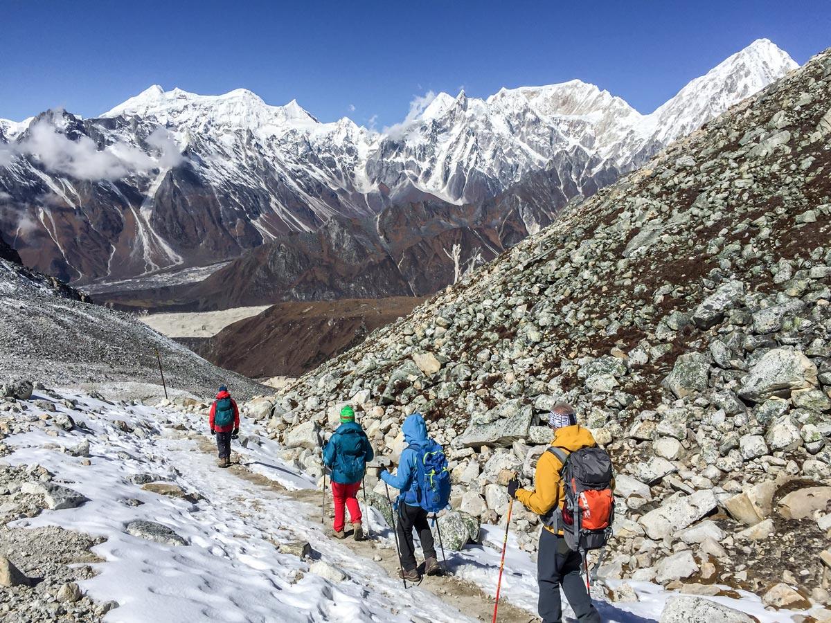 Beautiful mountain scenery on Manaslu Circuit trek in Nepal