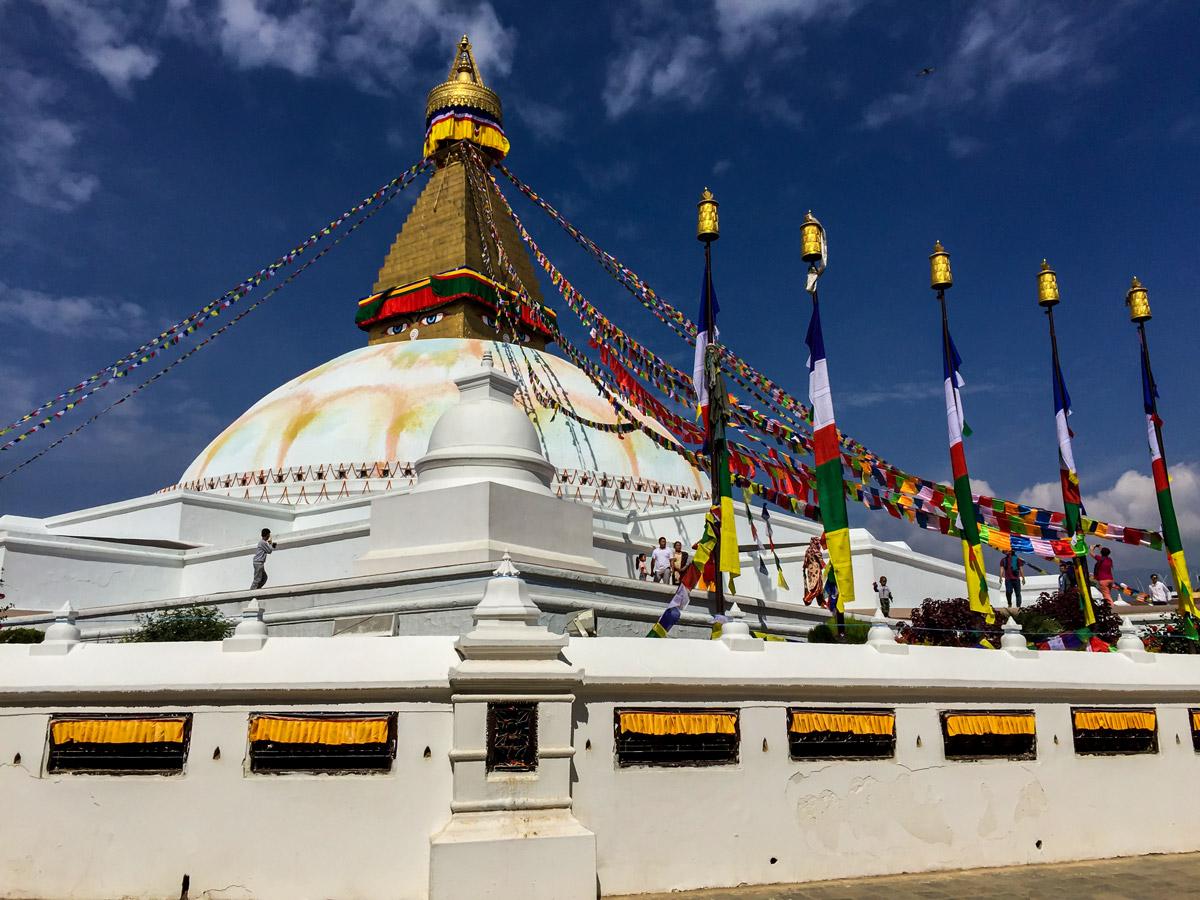 Beautiful architecture on Manaslu Circuit trek in Nepal