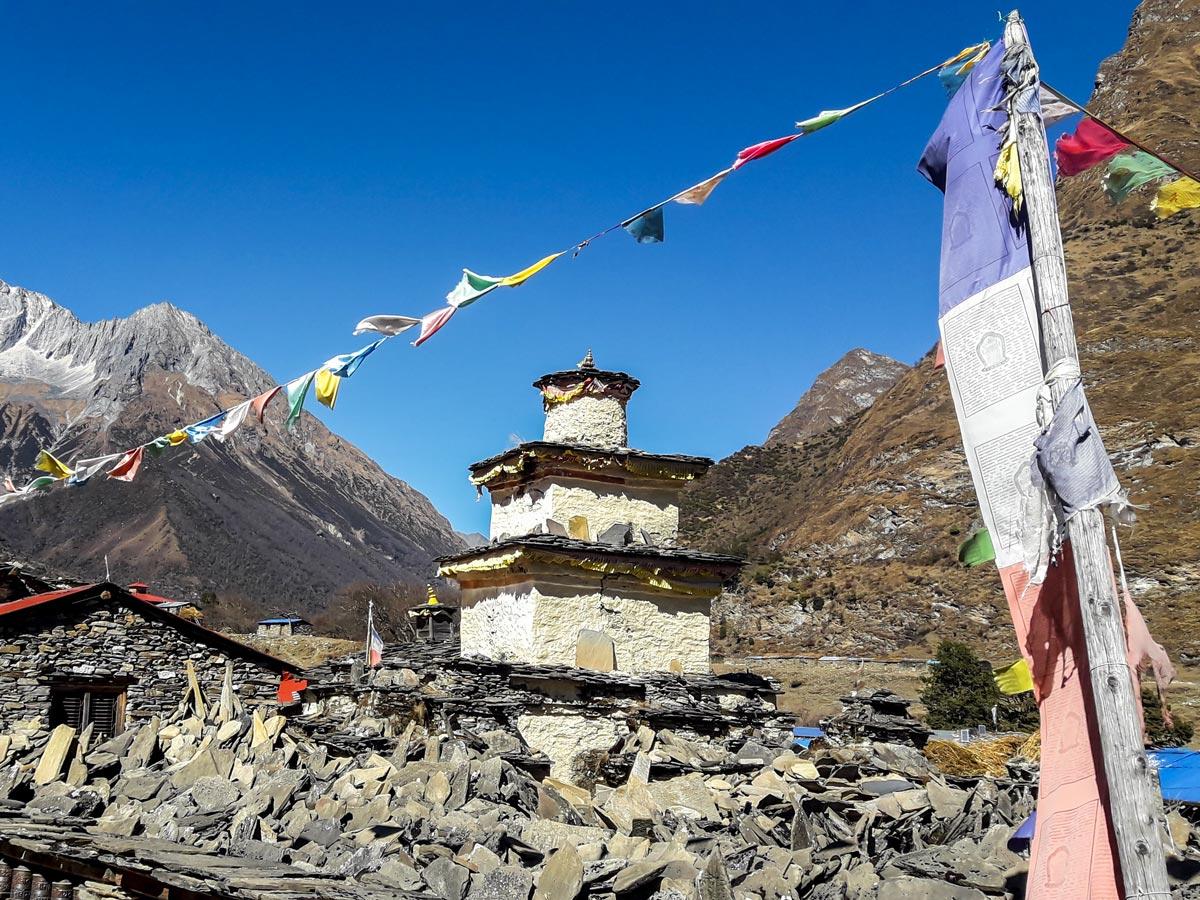 Himalayan Architecture on Manaslu Circuit trek in Nepal