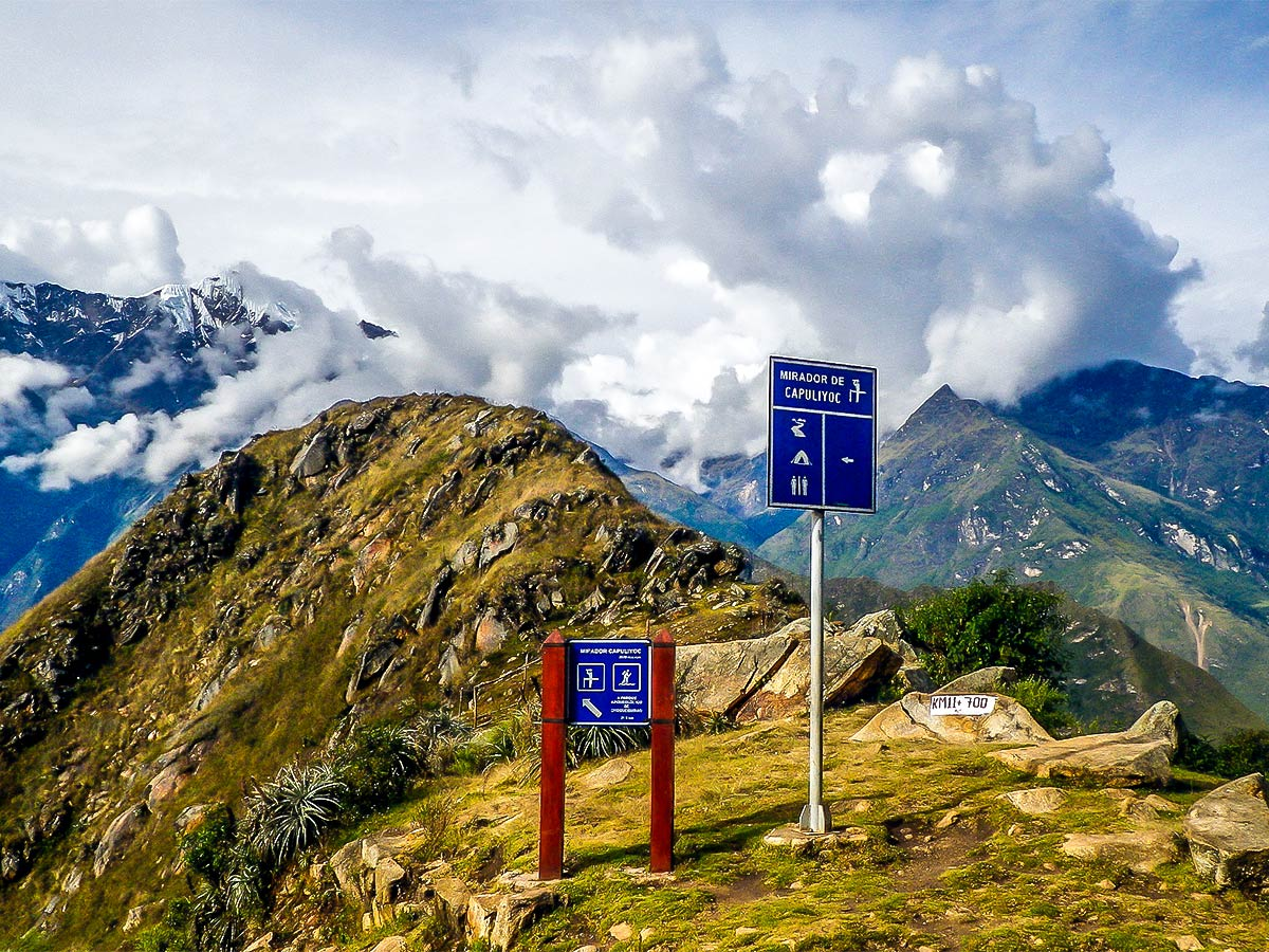 Mirador de Capuliyoc on Choquequirao Trek in Peru near Cusco