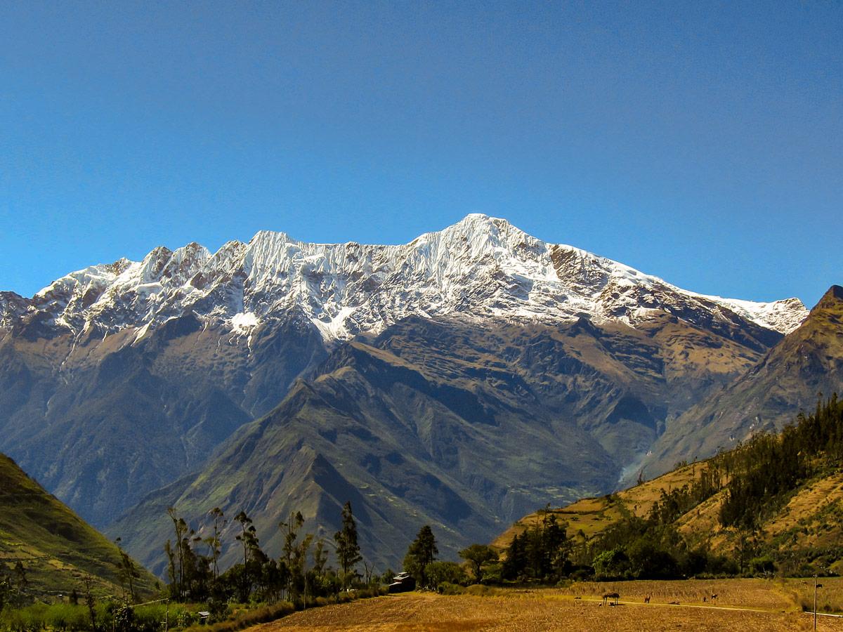 Peruvian Andes on Choquequirao Trek in Peru near Cusco