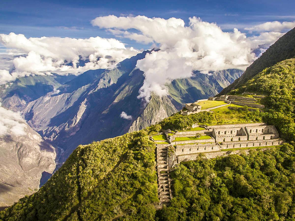 Stunning Incan ruins on Choquequirao Trek in Peru near Cusco