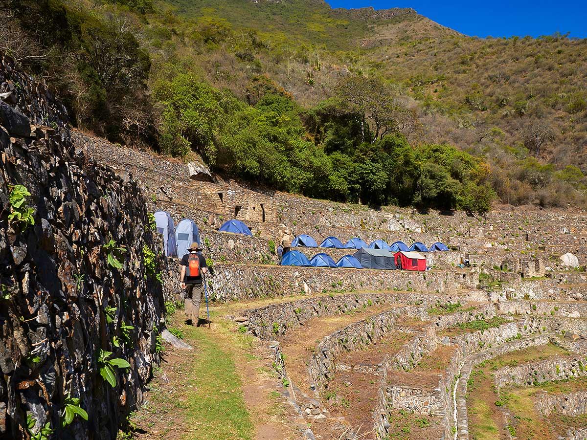 Campsite on Choquequirao Trek in Peru near Cusco