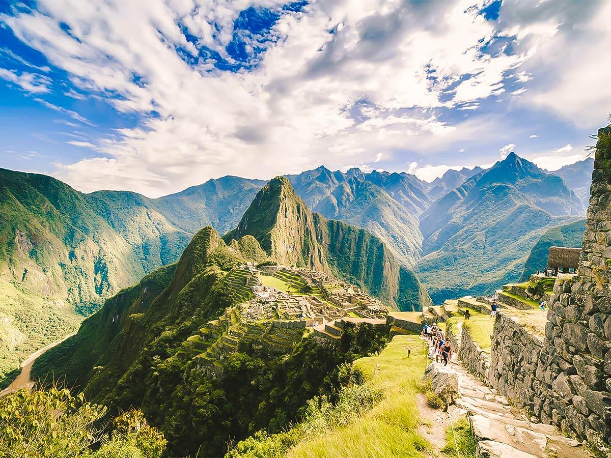 Machu Picchu on Inca Trail to Machu Picchu near Cusco Peru