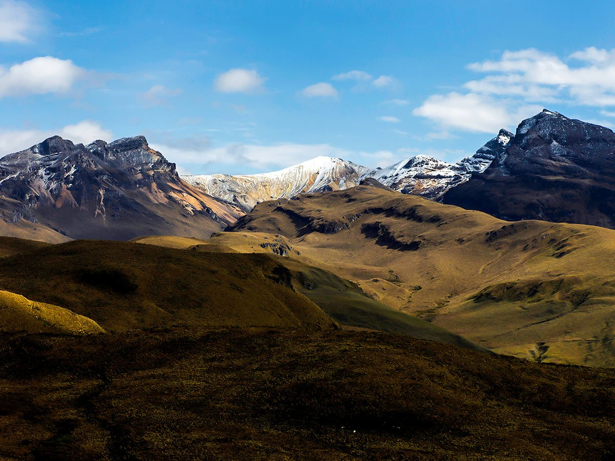 Los Nevados National Park is a beautiful location in Colombia and can be hiked on Los Nevados Trek
