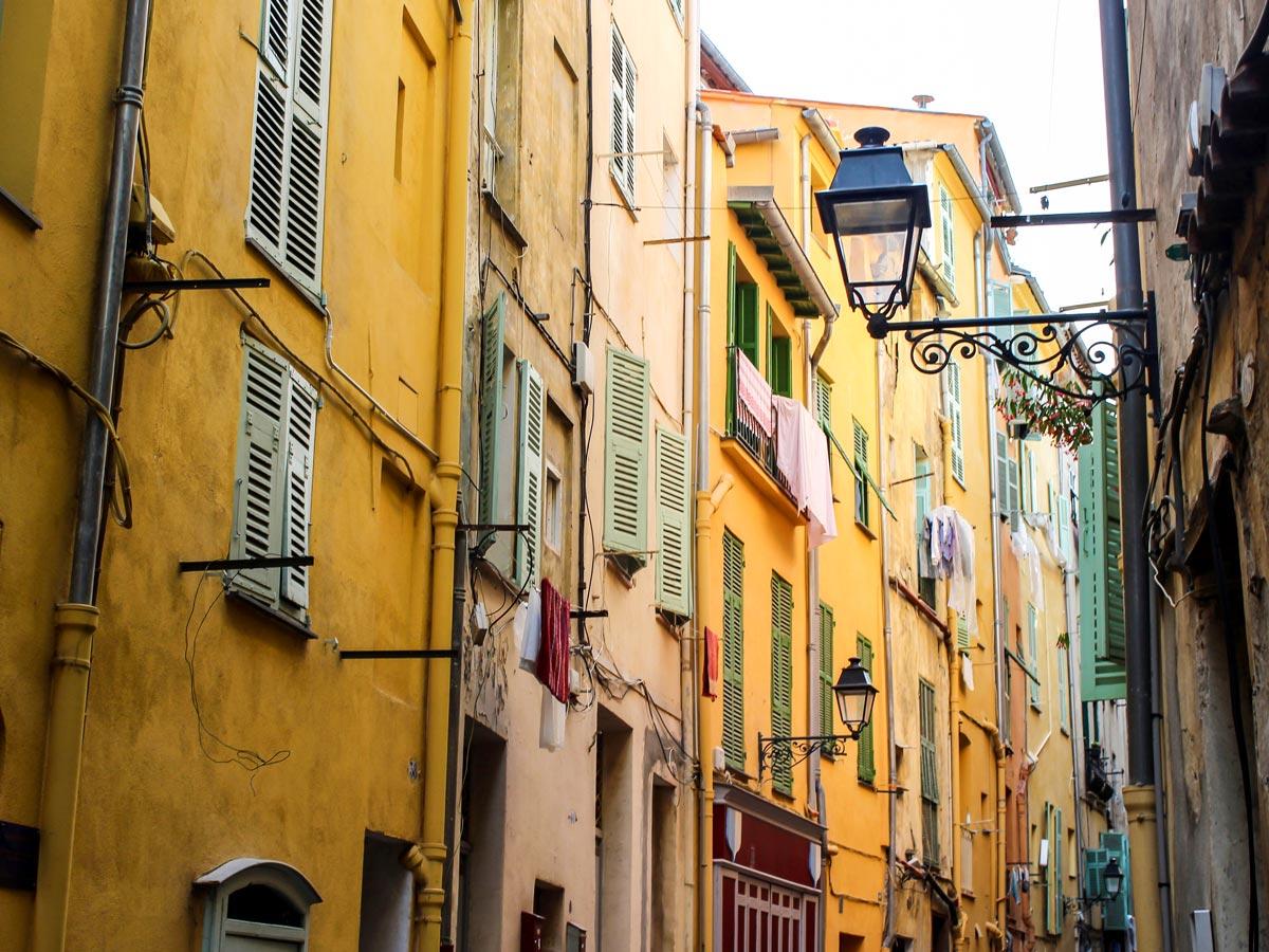 Streets of Menton village on Self-guided West Liguria and Cote dAzur trek