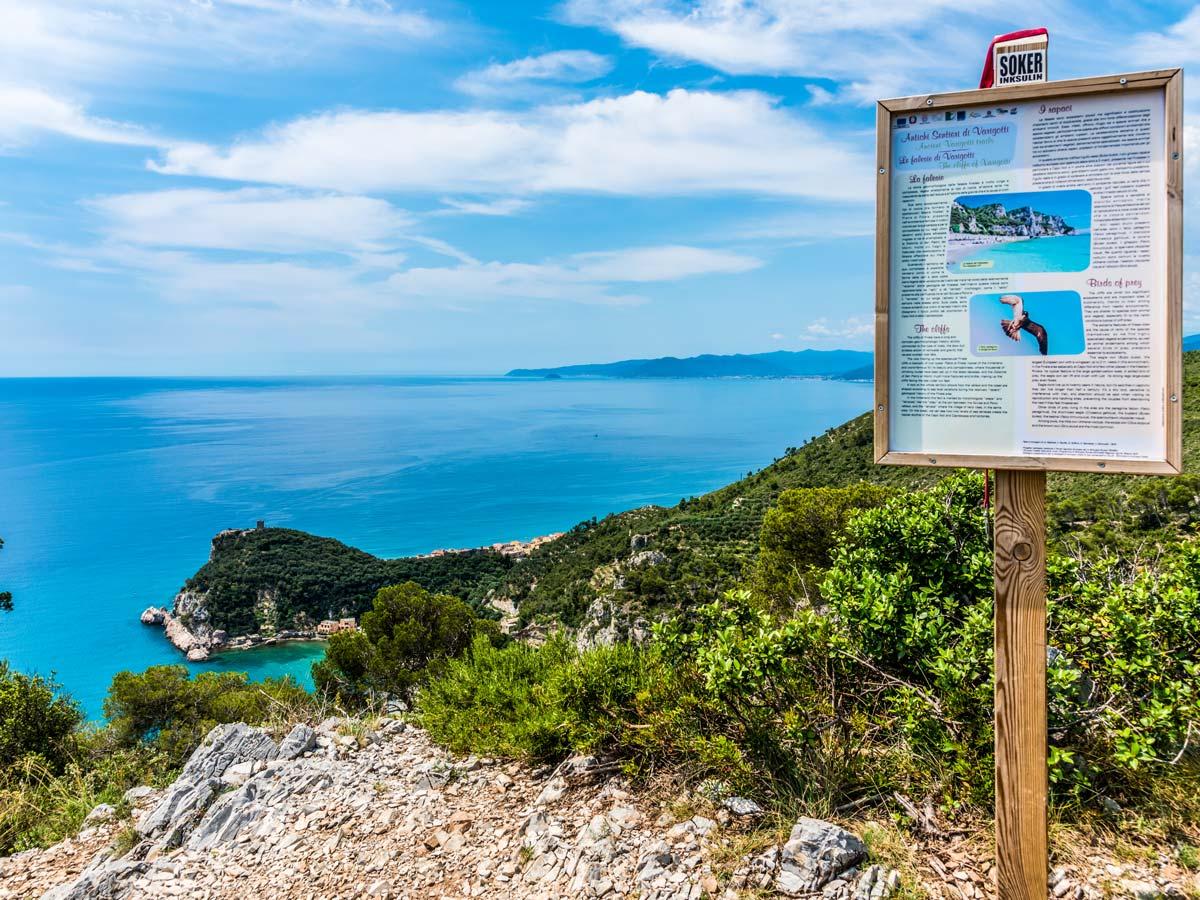 Self-guided West Liguria and Cote dAzur trek has lots of beautfiul coastal viewpoints