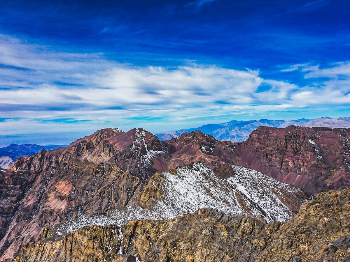 Mt Toubkal seen on Mt Toubkal and Desert tour in Morocco