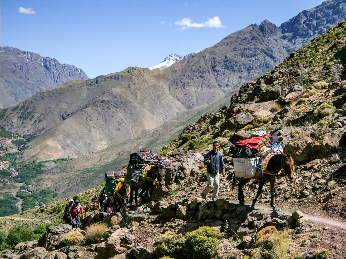 Villages Valleys and Mt Toubkal Climb tour in Morocco leads through beautiful valleys