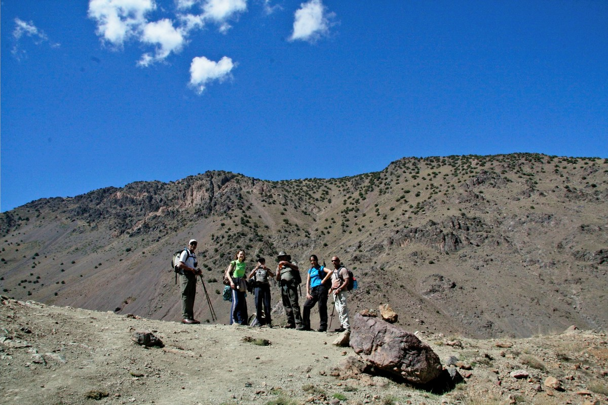 Expansive views on guided trekking tour to Atlas Valley from Marrakech Morocco