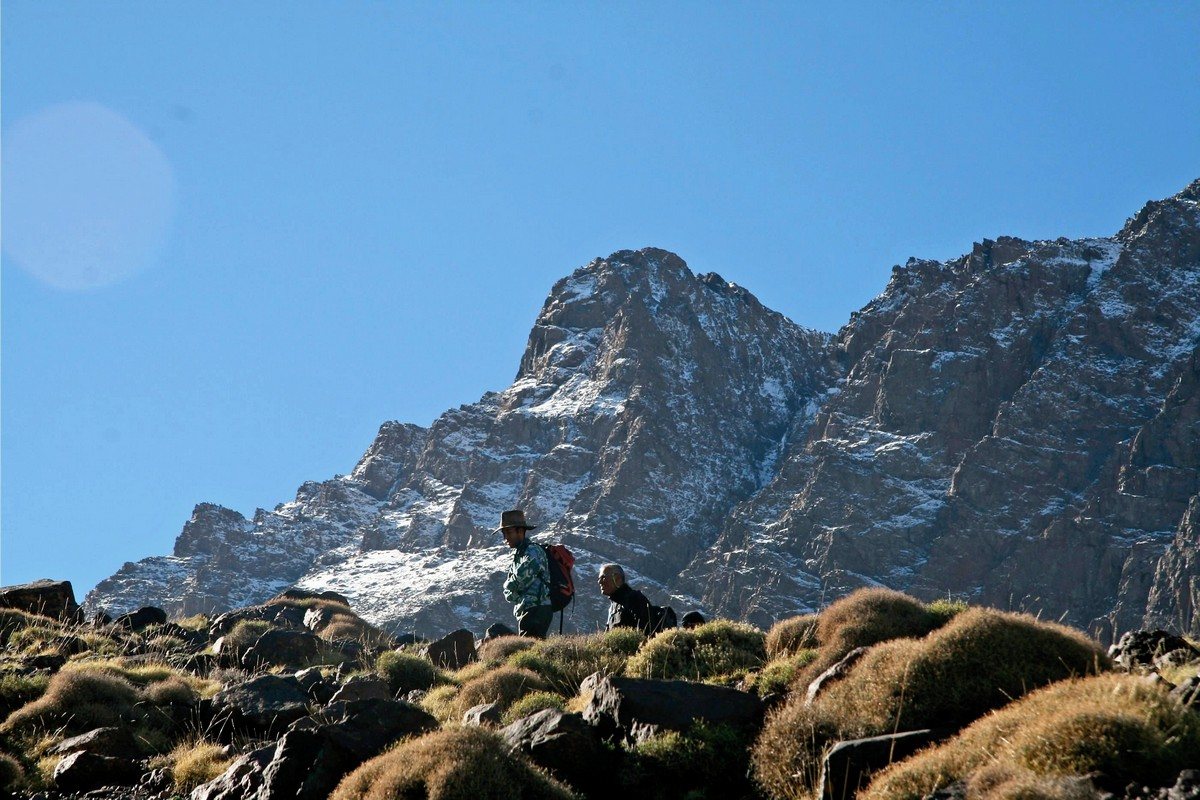 Trekking tour to Atlas Valley will lead you closer to the snowy peaks