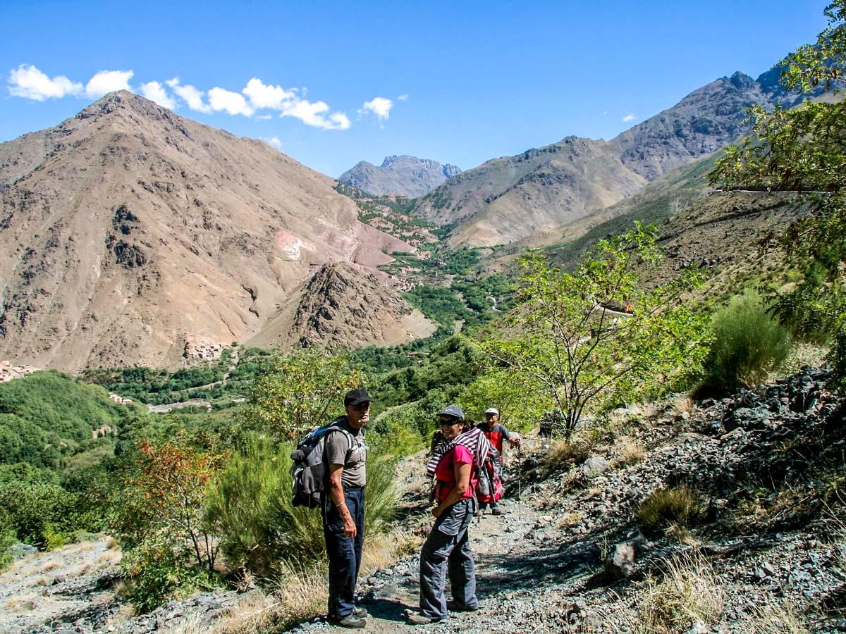 Beautiful Atlas Valley seen on Mt Toubkal Circuit Trek in Morocco
