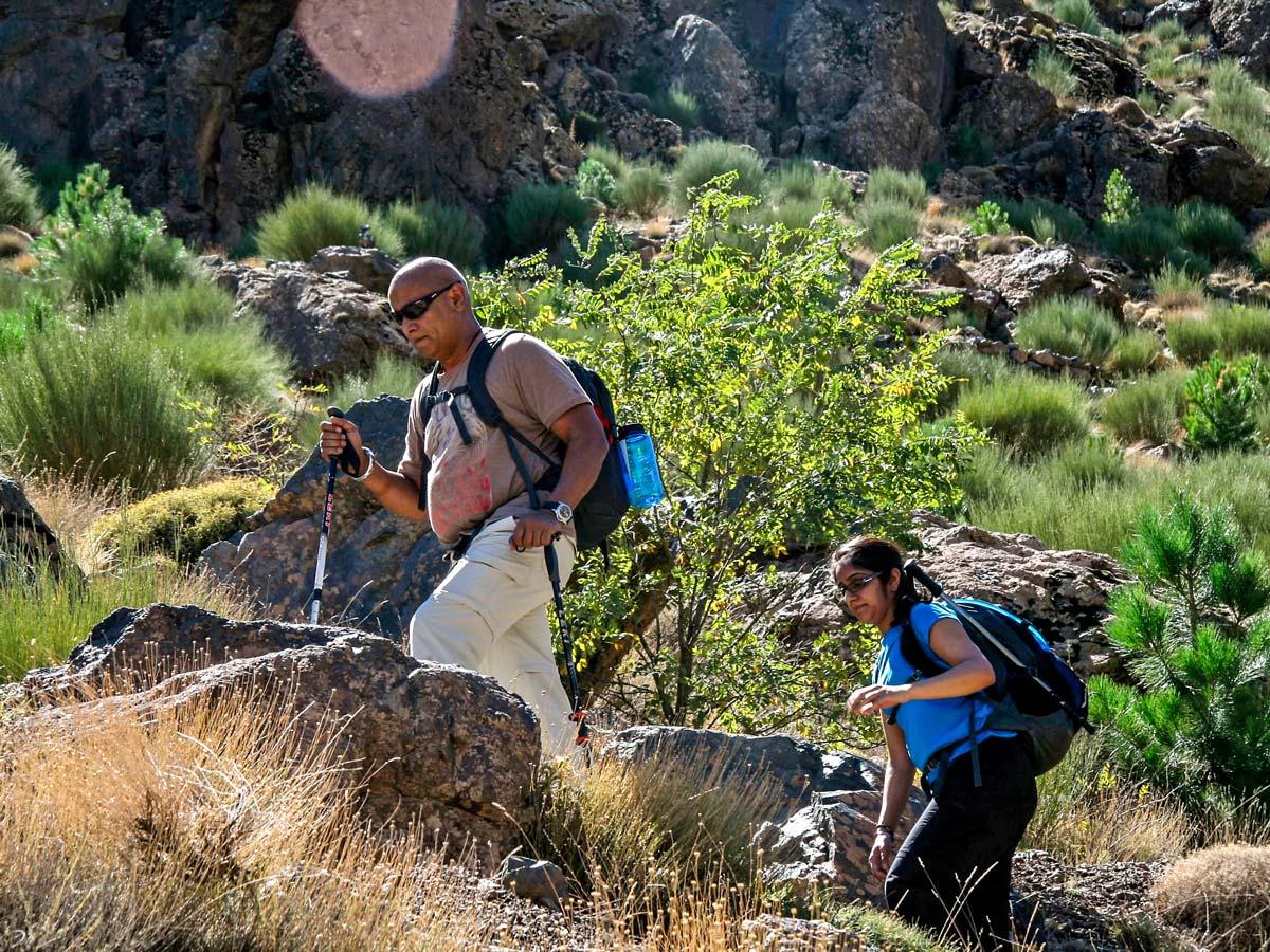 Group of hikers on Mt Toubkal Circuit Trek in Morocco