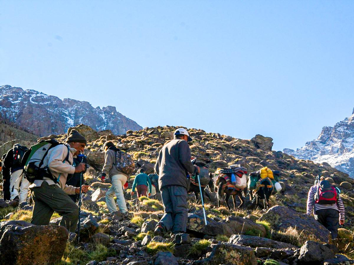 Mountain views on Mt Toubkal Circuit Trek in Morocco