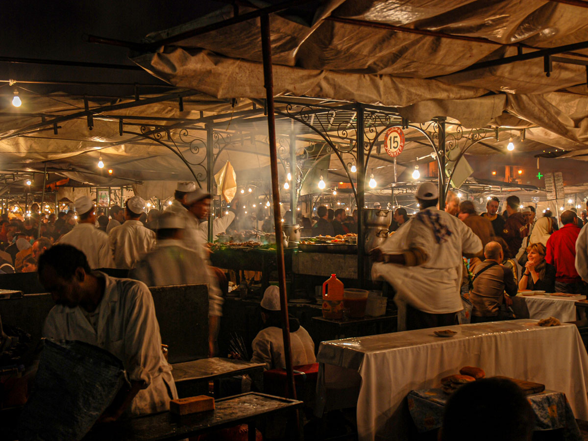Mt Toubkal Circuit Trek in Morocco inludes a night in beautiful Marrakech