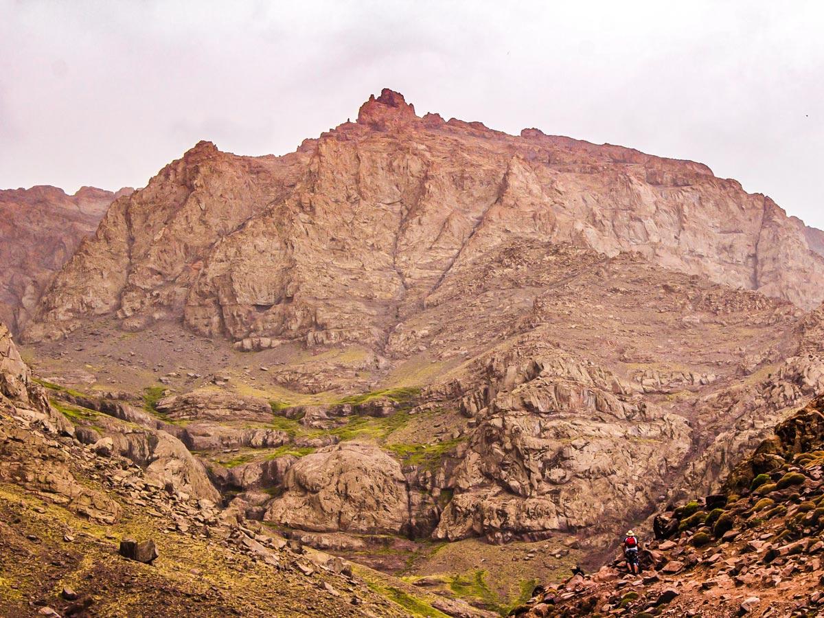 Rocky Atlas Mountains on Mt Toubkal Circuit Trek in Morocco