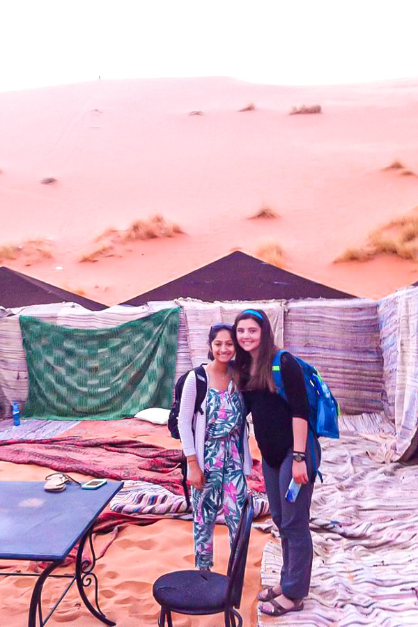 Meeting with locals along the trail on Merzouga Overland Tour in Morocco