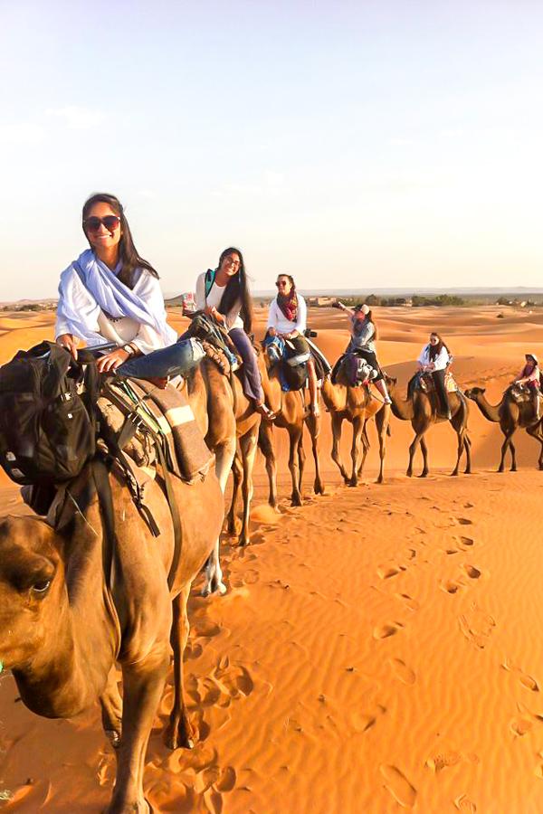Merzouga Overland Tour in Morocco involves camel riding