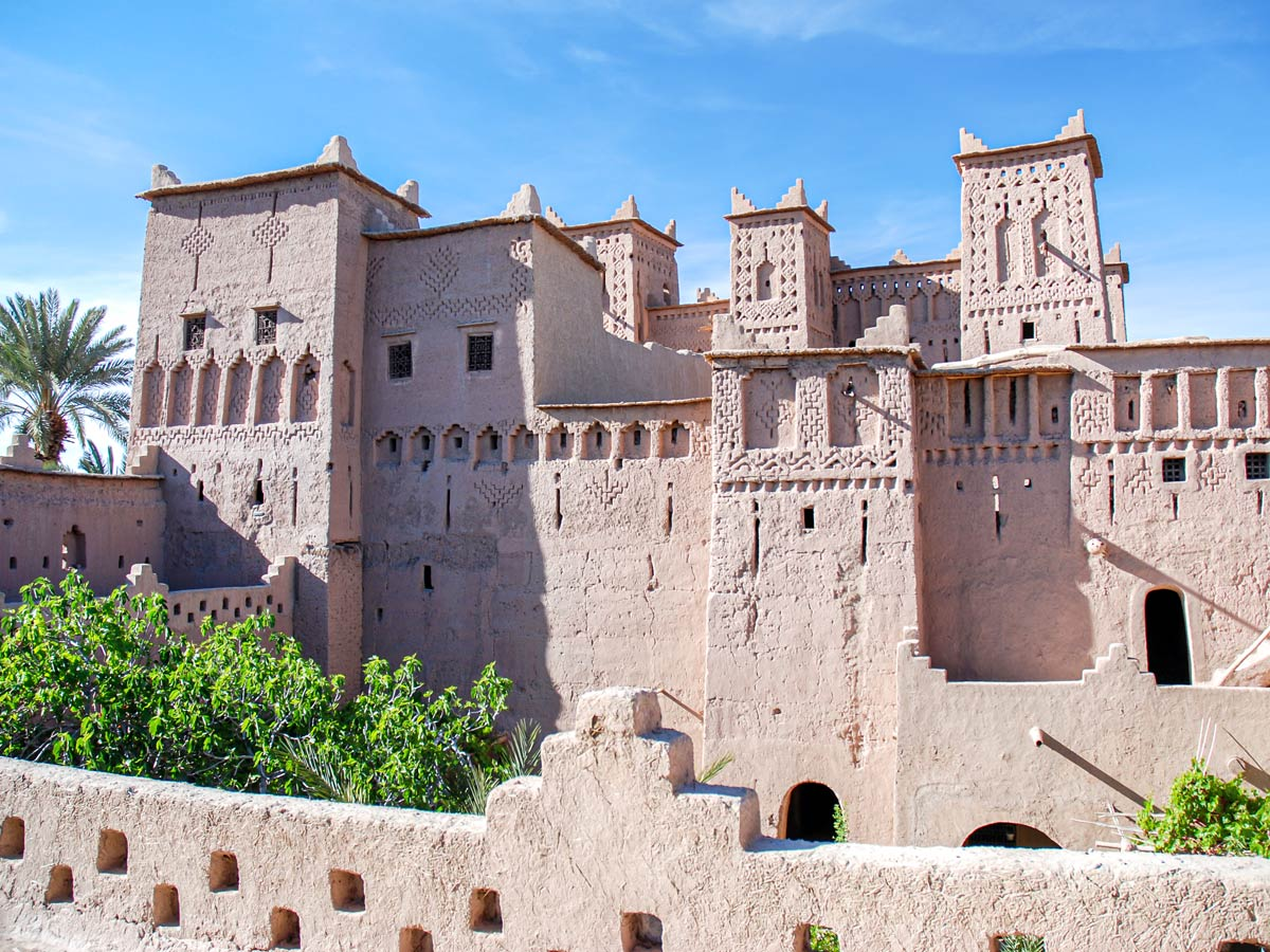 Beautiful Kasbahs seen along the trail of Merzouga Overland Tour in Morocco