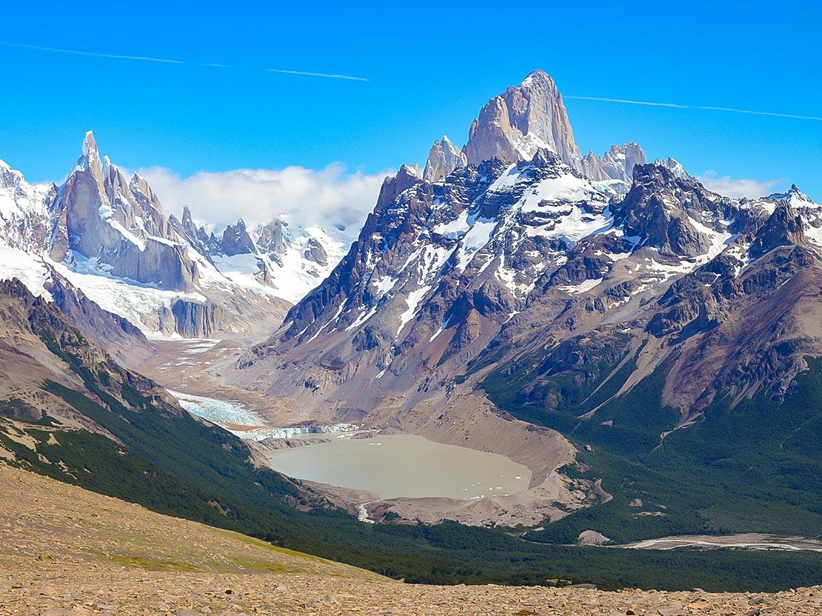 Pliegue Tumbado on Fitz Roy Glacier Perito Moreno Trekking tour in Patagonia