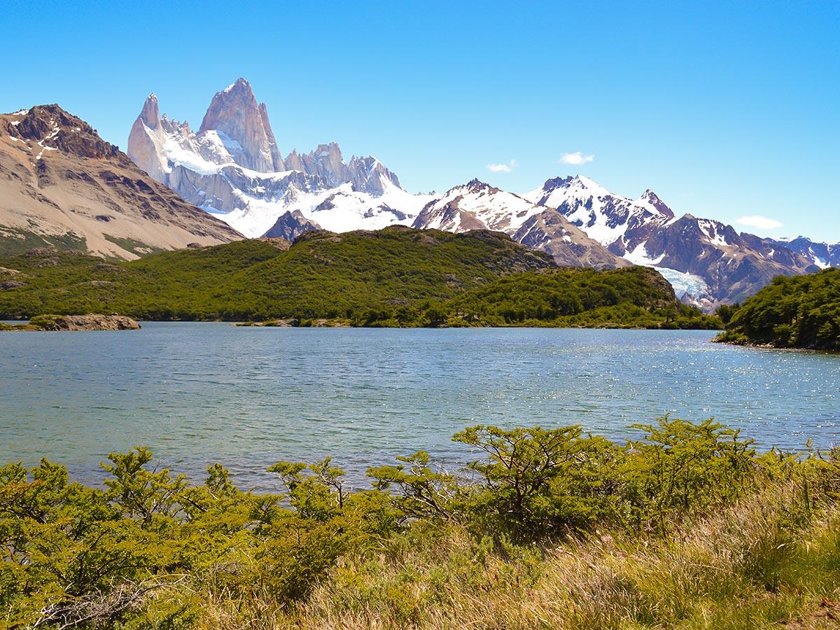 Laguna Capri seen on Fitz Roy Glacier Perito Moreno Trek in Argentina