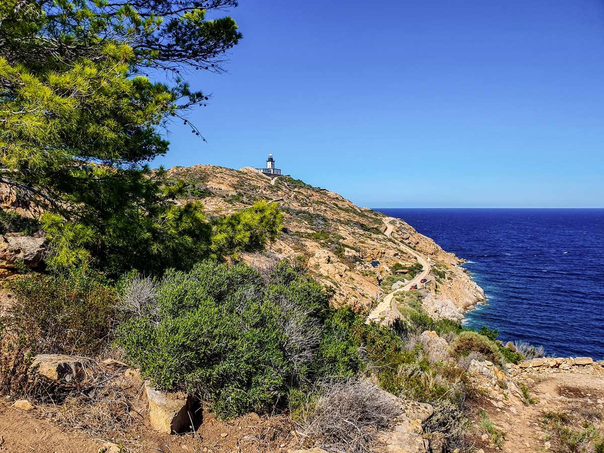 Approaching La Revellata on a trek in Corsica to Corte Calvi
