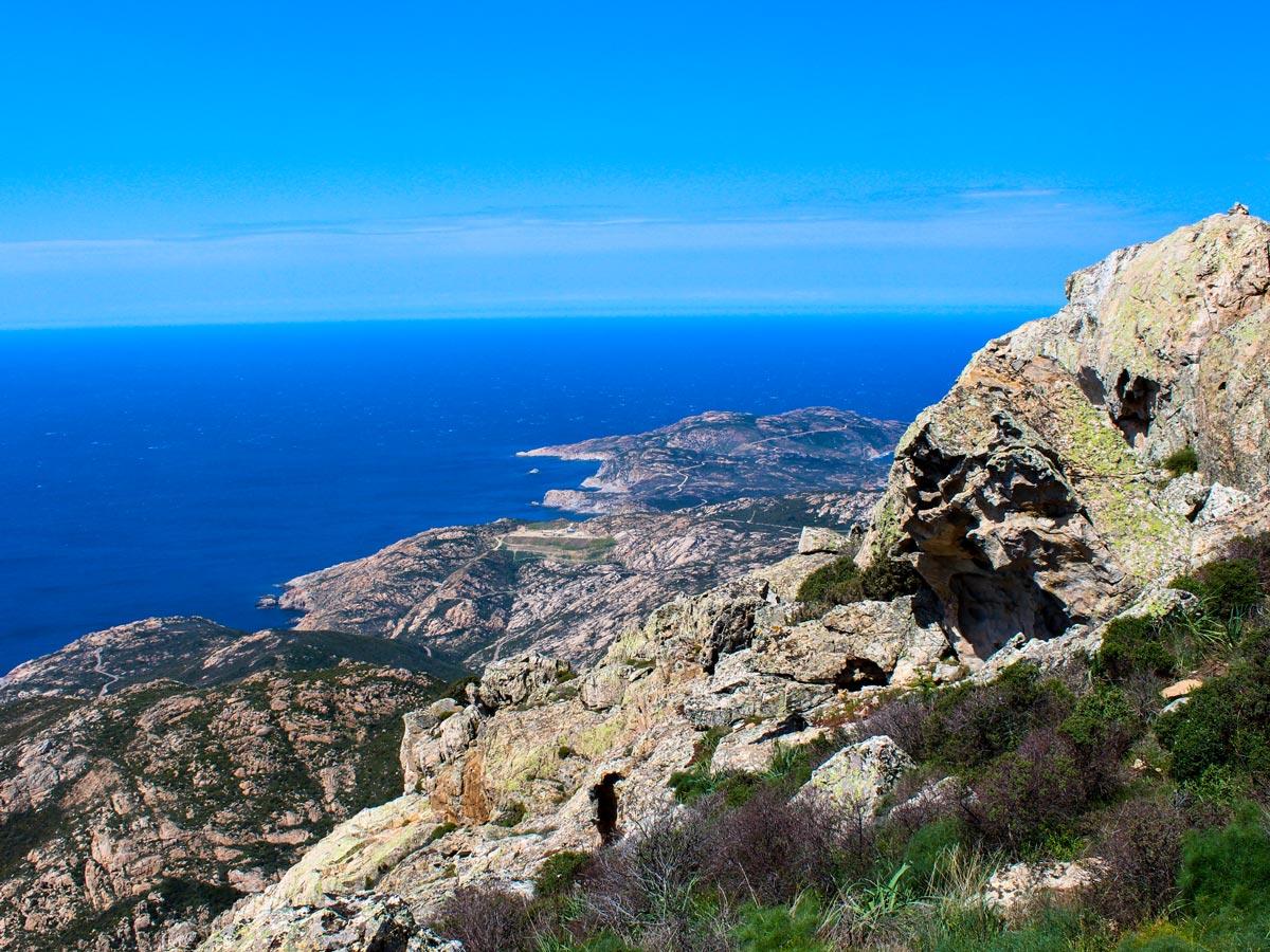 CorteCalvi trek in Corsica France has stunning views of the coast