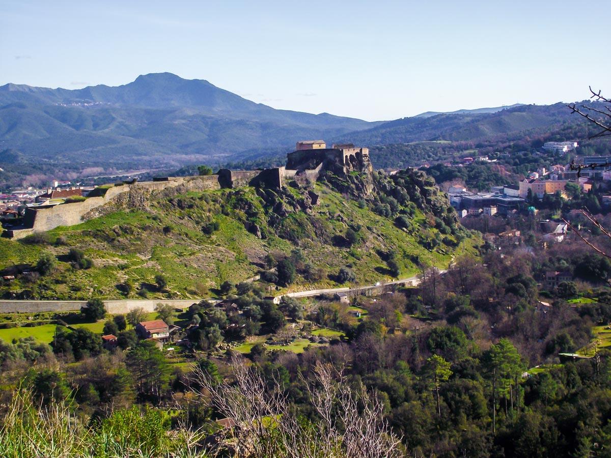 Corte and Calvi trek in Corsica visits several famous architecture monuments including Corte Citadel