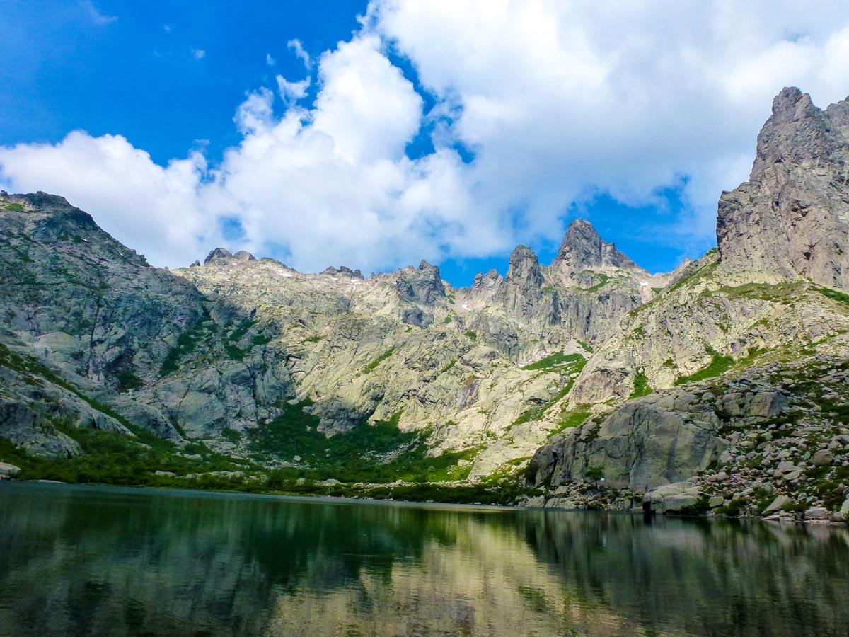 Corsican mountain views seen on a guided trek of Corte Calvi