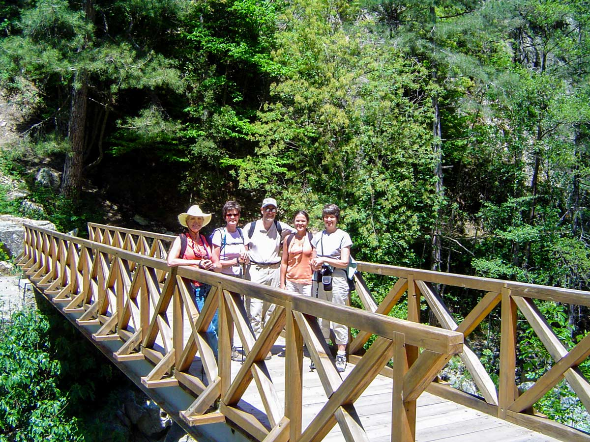 Group of happy hikers on CorteCalvi trek in Corsica