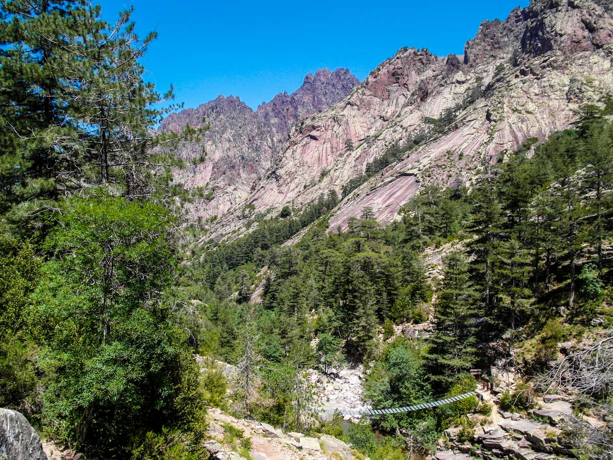 Between Bonifatu and Haut Asco on GR20 trek in Corsica you have to cross river several times