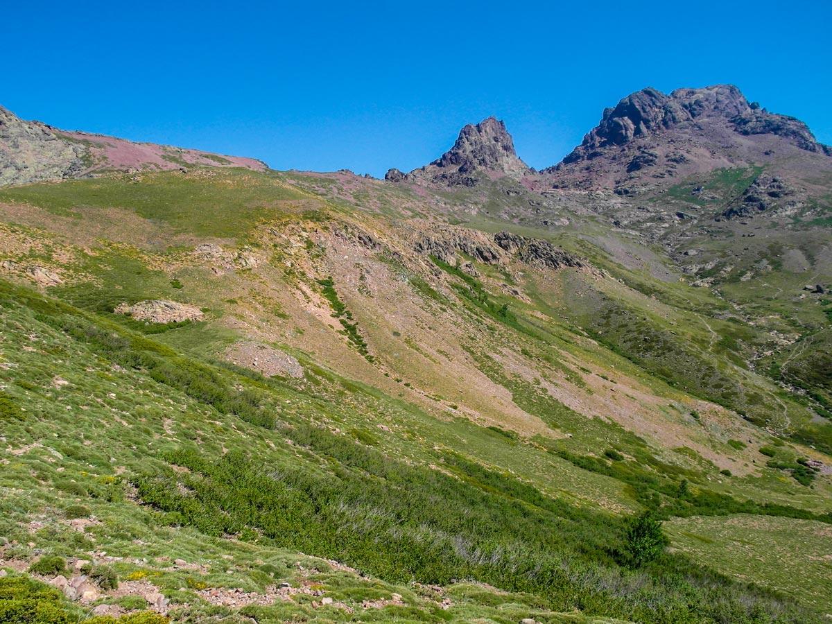 Beautiful views in Niolu Valley on GR20 trek in Corsica