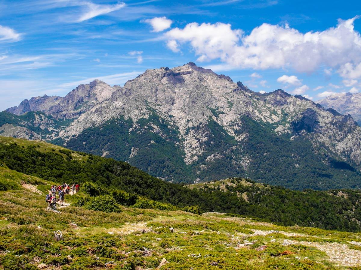 GR20 Trek in Corsica Island has beautiful views of Bocca Palmente