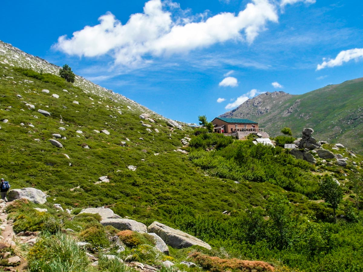 Beautiful views between Bassetta and Bacella on GR20 Trek in Corsica France