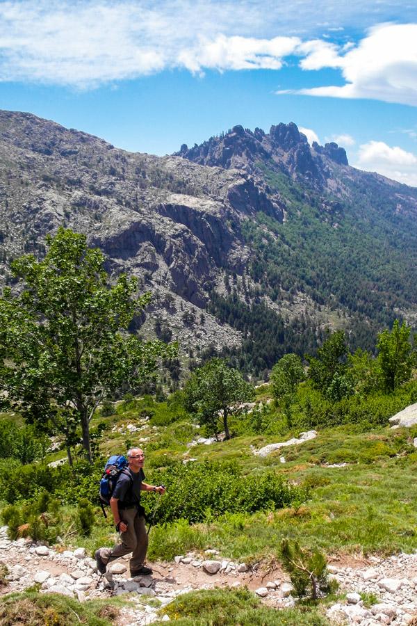 GR20 Tour in Corsica has beautiful views of Needles de Bavella Aguilles de Bavella